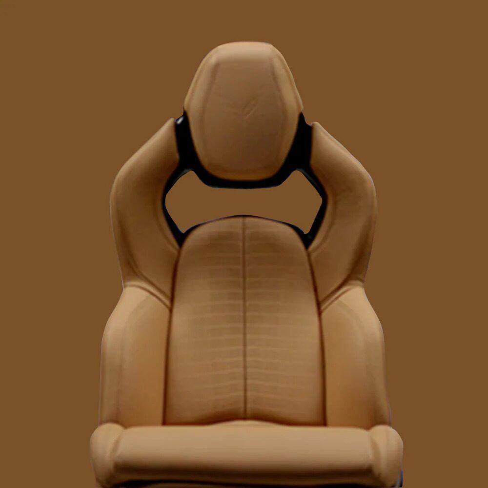2021 Chevrolet Corvette Mid-Engine Sports Car Seating Design in Camel